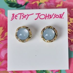 Betsey Johnson Blue Stone with Gold Tone Trim NWT